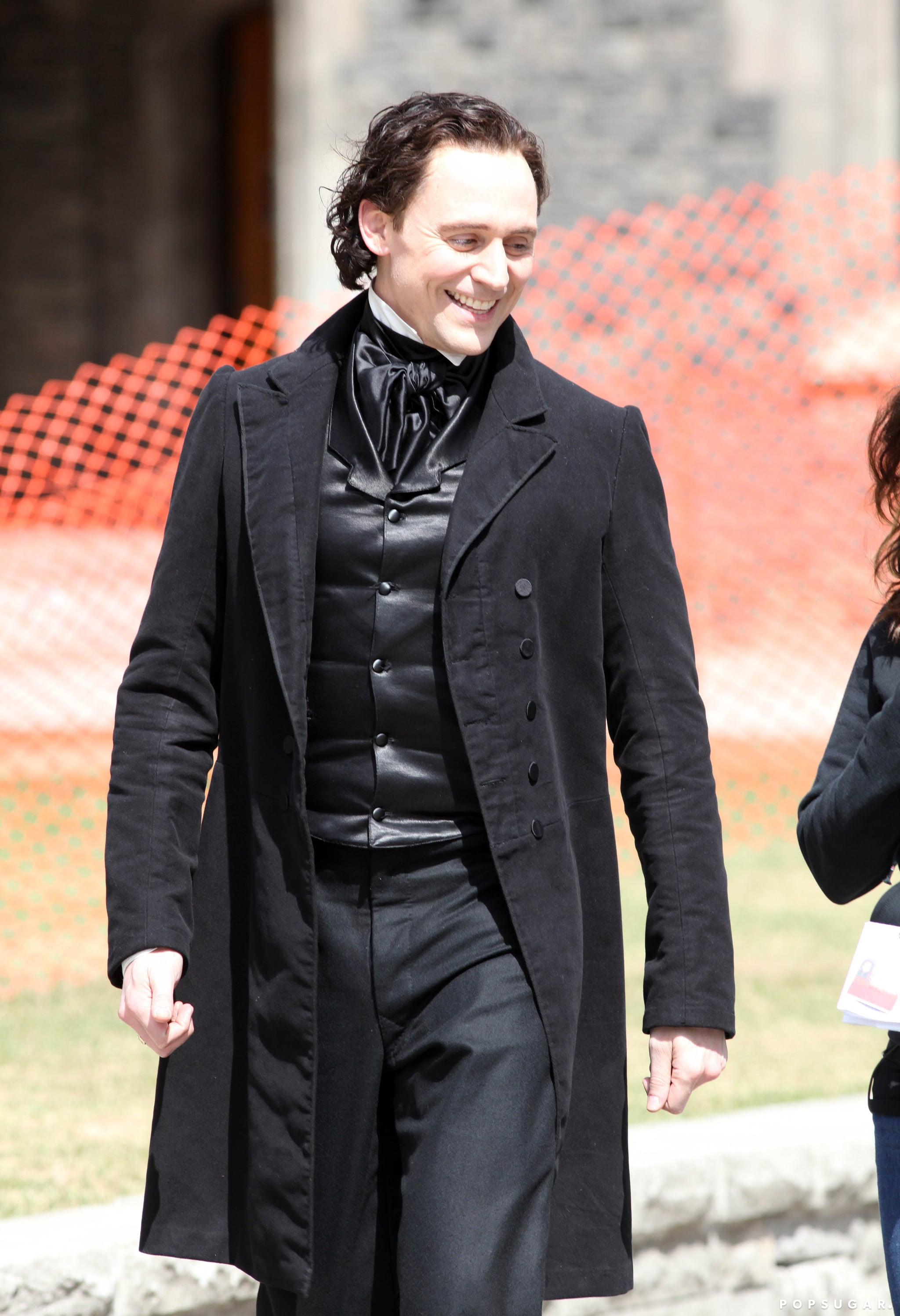 He wore all black while filming on April 16.