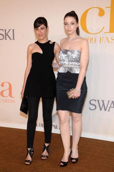 Behnaz Sarafpour and Michelle Trachtenberg in the designer