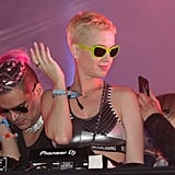 Katy Perry kept things cool at the festival in 2017.