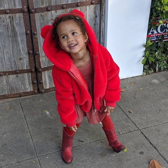 John Legend's Photo of the Red Outfit Luna Styled Herself