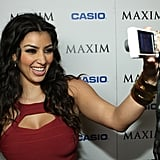 Kim snapped a photo on the red carpet at the Maxim Style Awards in LA in September 2007.