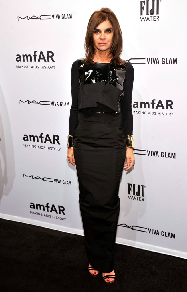Carine Roitfeld attended the amfAR New York Gala.