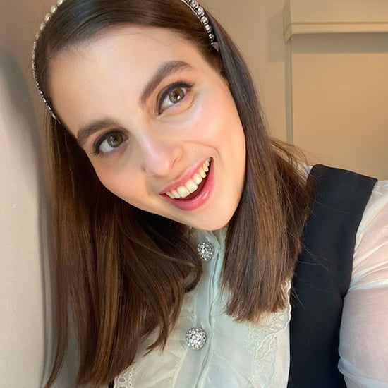 Beanie Feldstein Channels Blair Waldorf in Miu Miu