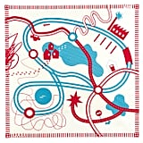 Tapikid organic canvas play mat in red and blue ($70)