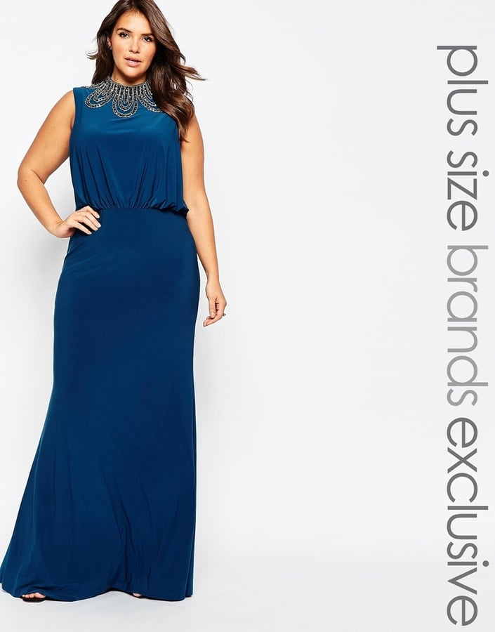 Forever Unique Plus High Neck Embellished Maxi Dress Best Plus