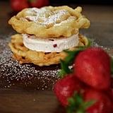 Strawberry Funnel Cake Ice Cream Sandwich