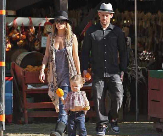 Slide Photo of Nicole Richie and Joel Madden at Pumpkin Patch With Harlow