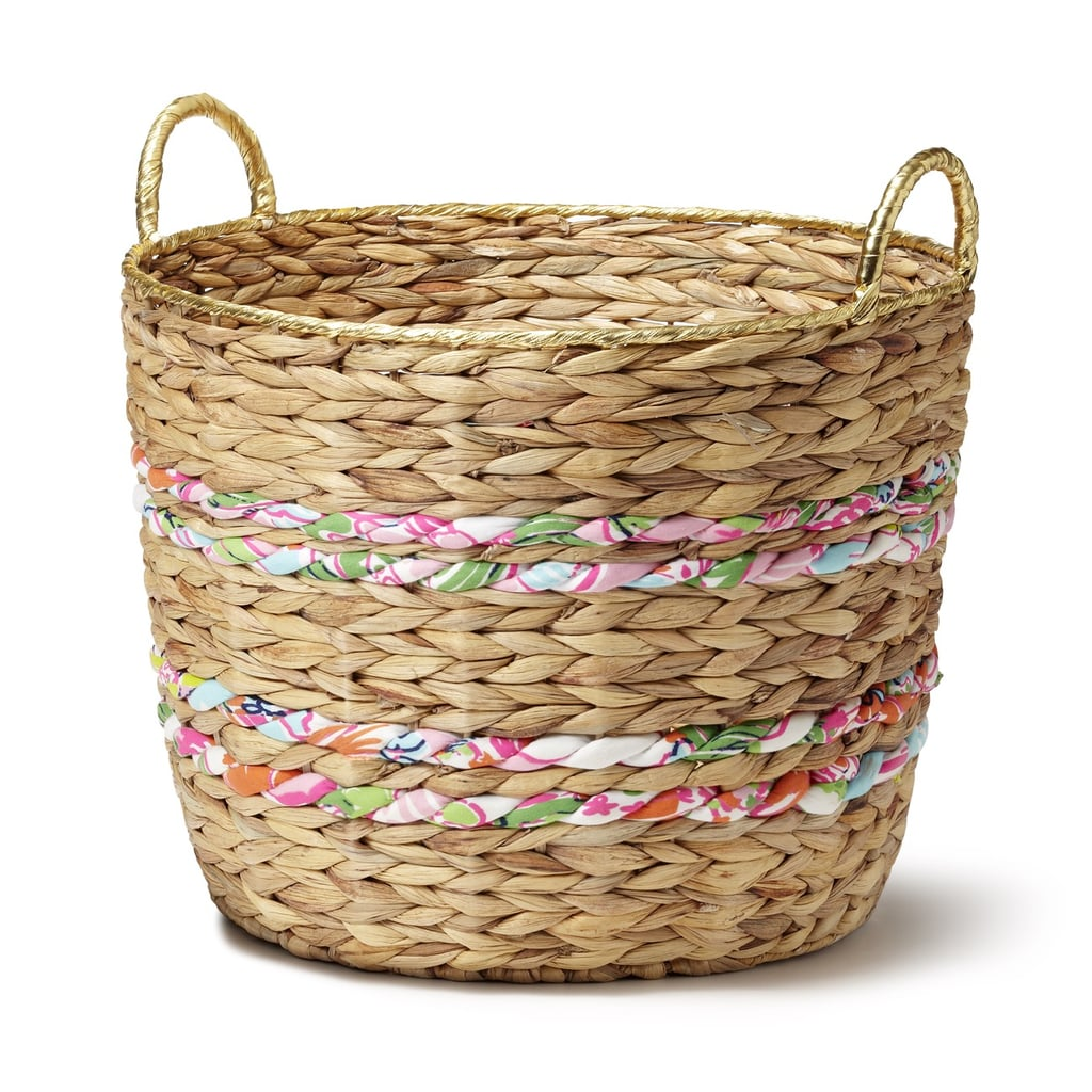 Next Woven Basket : Woven basket with fabric and gold rim the must