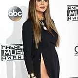 Chrissy Teigen Definitely Set a Record With Her Insanely Sexy Slit Dress