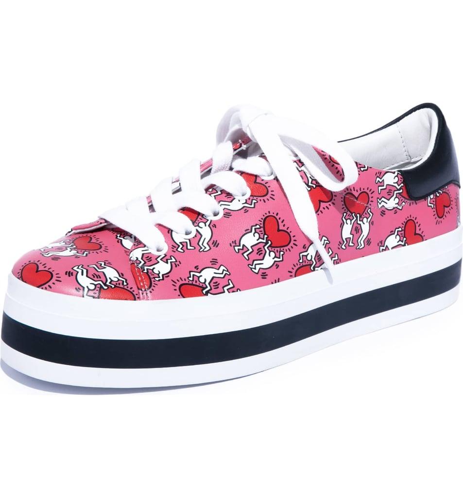310072081775 Alice + Olivia x Keith Haring Ezra Flatform Sneaker
