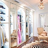 We're having serious closet envy looking at Lauren's ridiculous walk-in. The arches and interior lighting add a touch of luxury to the already decadent space.