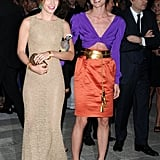 Eugenie Niarchos in Alaia, Charlotte Casiraghi in Gucci