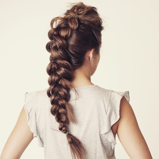 Ponytail Braid | Easy Braided Hairstyles | Instagram ...