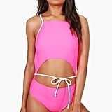 Boohoo Goa Cut Out Tie Waist Swimsuit