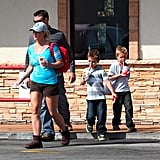 Britney Spears went to McDonald's with her kids.