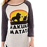 Lion King Raglan-Sleeve Burnout Graphic T-Shirt