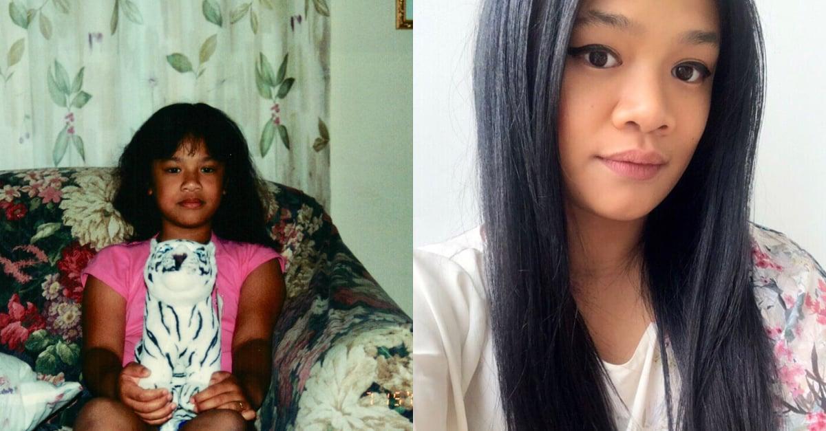 Assistant Editor, Jesa Marie Calaor. Left: As a Pre-teen, Right: As an adult