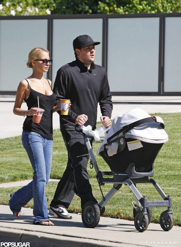 In May 2008, Nicole Richie and Joel Madden took their daughter, Harlow, out for a walk in LA.