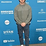 Who says you can't wear sneakers and high socks to a movie premiere?