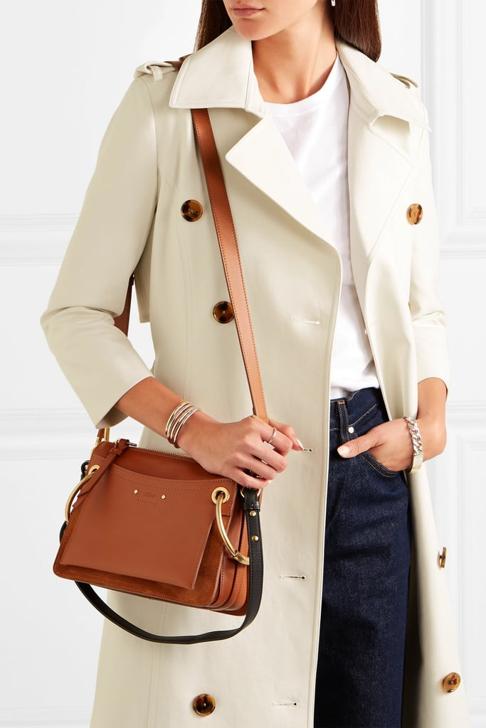 26ebea2f52287 Chloé Roy Small Leather and Suede Shoulder Bag | Fall Bag Trends ...