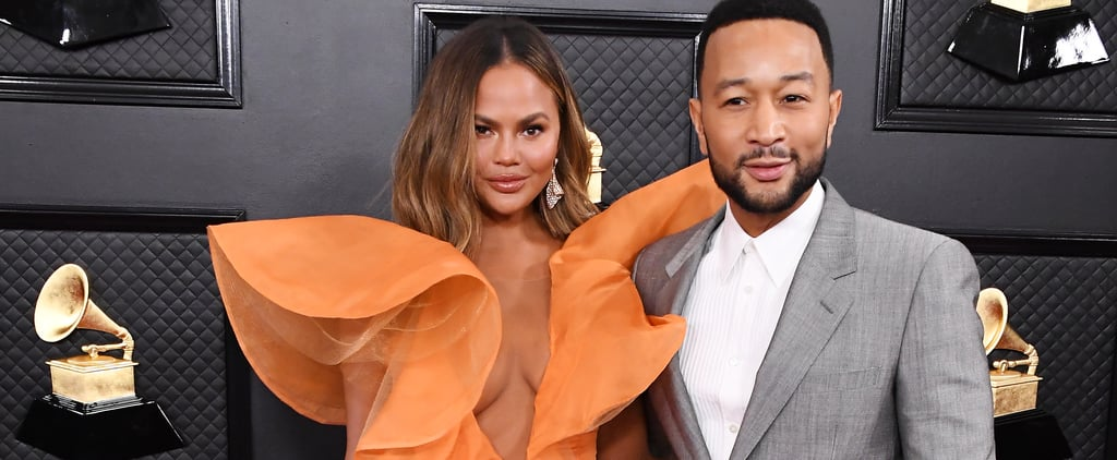 Chrissy Teigen's Wears Yanina Couture at 2020 Grammy Awards