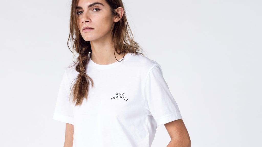 Wild Feminist Embroidered T-Shirt ($50)