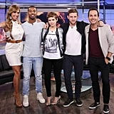 Posing with her Fantastic Four castmates, Kate somehow found the happy medium between edgy and girlie, styling her band tee with a floral jacket and pumps.