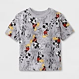 Toddler Boys' Mickey Mouse Print Short Sleeve T-Shirt