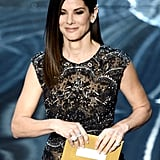 Sandra Bullock on stage at the Oscars 2013.