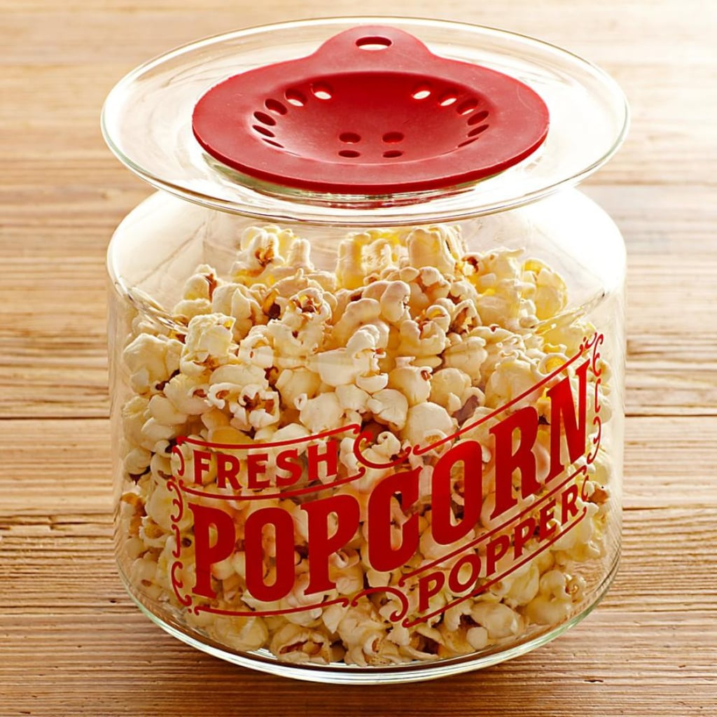 It's not a movie without popcorn and this popcorn popper is just a little bit fancier than packets. Williams-Sonoma Catamount Popcorn Popper ($30)
