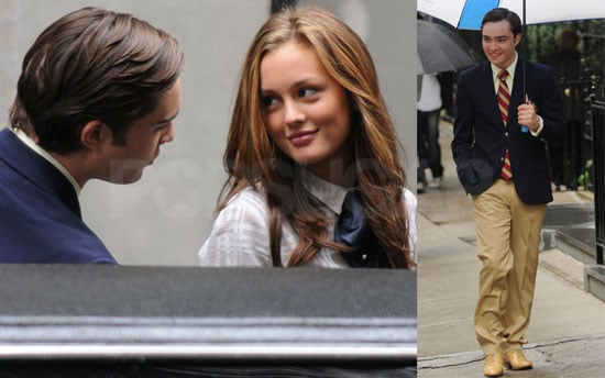 Photos of Leighton Meester and Ed Westwick Filming Gossip Girl in NYC