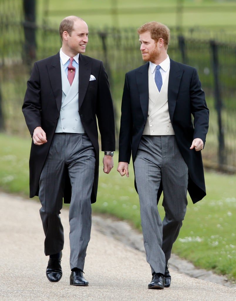They walked side by side while arriving at Pippa Middleton and James Matthews's wedding in May 2017.       Related:                                                                                                           See Kate and Pippa Middleton's Sweetest Wedding Moments, Side by Side