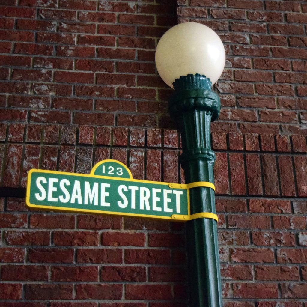 Visiting the set of sesame street popsugar moms aloadofball Image collections