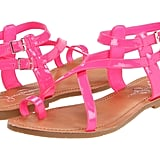Inject a pop of hot pink into your Summer style; they look especially eye-catching with your white jeans.  Jessica Simpson Derren Sandals ($45)