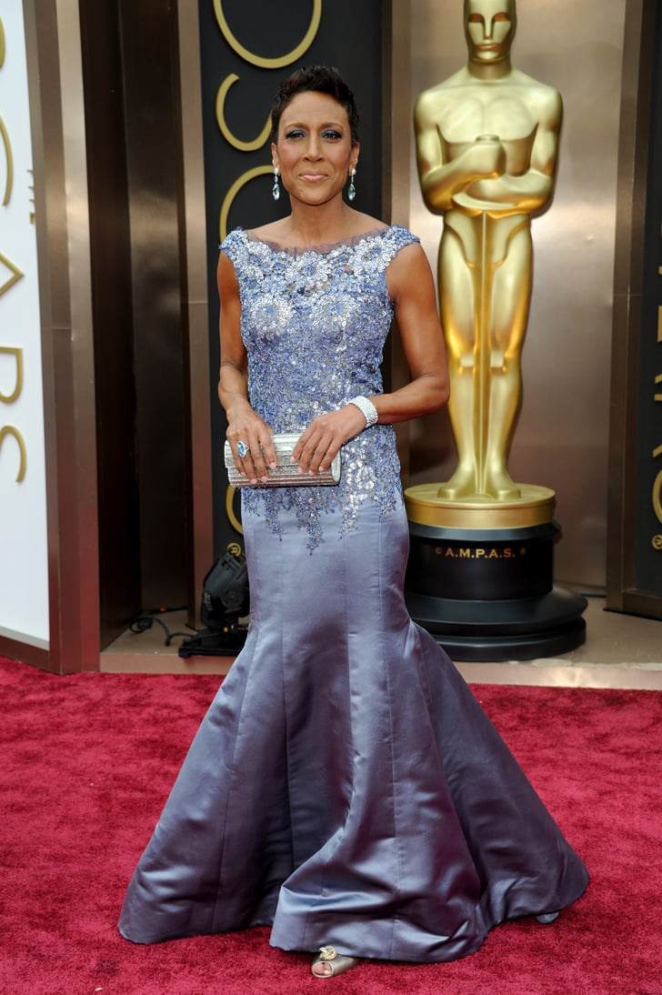 Robin Roberts Celebrities On The Oscars Red Carpet 2014