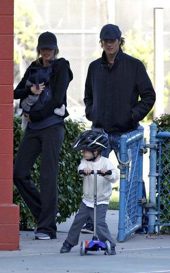 Tom Brady and Gisele Bundchen bonding at the park with the boys