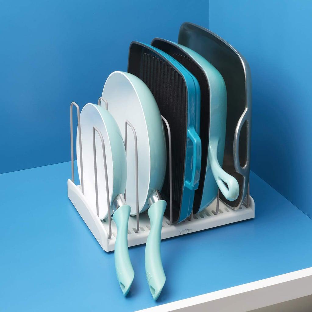 YouCopia StoreMore Cookware Rack Adjustable Pan Organizer