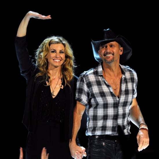 Tim Mcgraw And Faith Hill Wedding: When They Played Family Footsie On The Floor