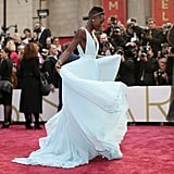 Lupita Nyong'o at the 2014 Oscars.