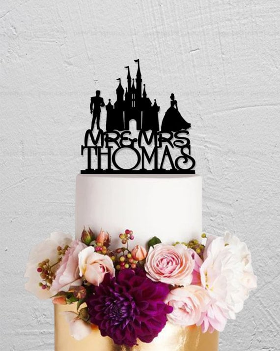 disney princess and prince cake topper 15 disney wedding cake