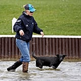 Zara Phillips With Pepper the Black Lab