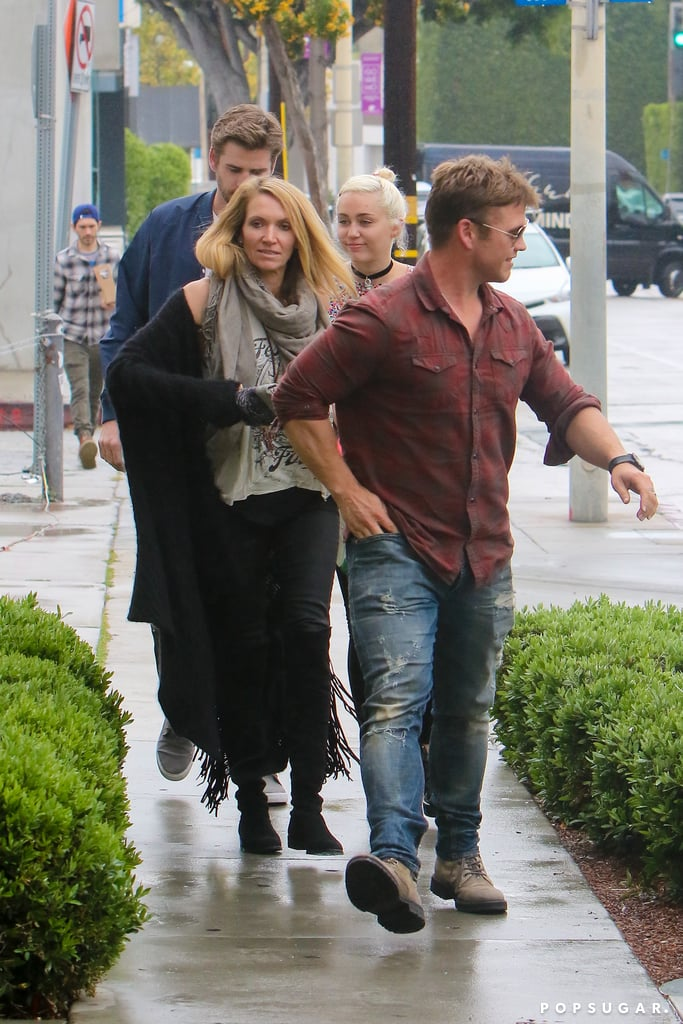 Miley Cyrus and Liam Hemsworth Out in LA April 2016