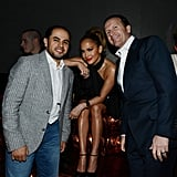 Jennifer Lopez mingled with guests inside the nightclub.