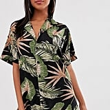 ASOS Design Vintage Hawaiian Print Oversized Beach Shirt