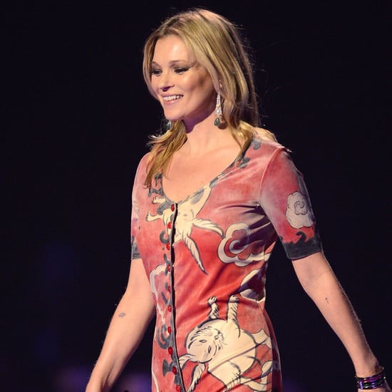 Kate Moss Wears David Bowie Costume at 2014 Brit Awards