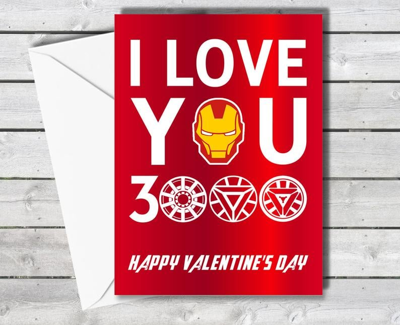"Iron Man ""I Love You 3000"" Valentine's Day Card"