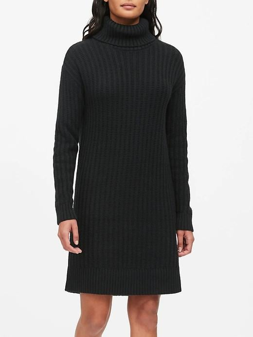 Chunky Turtleneck Sweater Dress