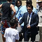 Johnny Depp On the Set of the Rum Diary