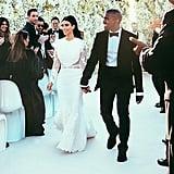 Kim Kardashian Weds in Givenchy