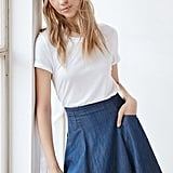 Instead of Denim Cutoffs, Wear a Chambray Skirt